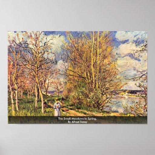 Los pequeños prados en primavera, por Alfred Sisle Impresiones