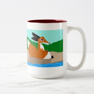 Los pequeños zorros tazas de café