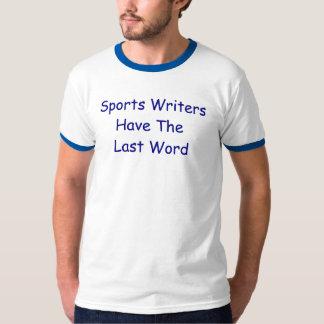Los periodistas deportivos tienen la camiseta