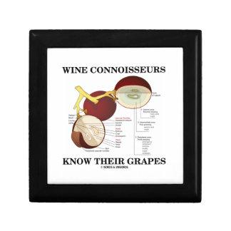 Los peritos del vino saben sus uvas (el humor) cajas de recuerdo