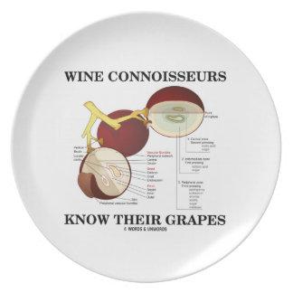 Los peritos del vino saben sus uvas el humor plato de comida
