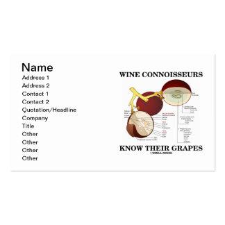 Los peritos del vino saben sus uvas (la anatomía) tarjetas de visita
