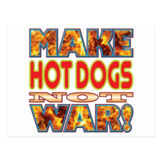 Los perritos calientes hacen X Tarjeta Postal