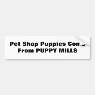 Los perritos de la tienda de animales vienen de MO Pegatina De Parachoque
