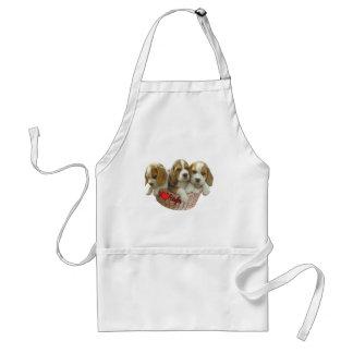 Los perritos del perro del beagle, amo beagles delantal