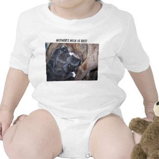 Los perritos, la leche de madre son los mejores camisetas