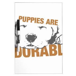 Los perritos son adorables pizarras