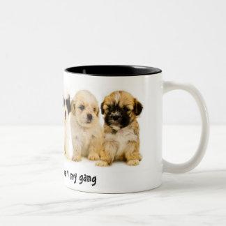 Los perritos usted quiere estar en mi cuadrilla tazas