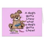Los perros consiguieron masticar felicitación