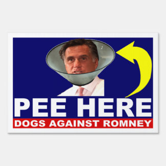 Los perros contra Mitt Romney HACEN PIS AQUÍ muest