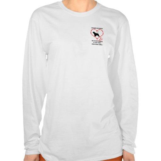 Los perros de aguas de cocker deben ser amados camisetas