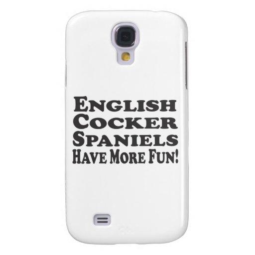 ¡Los perros de aguas de cocker ingleses se diviert Funda Para Galaxy S4