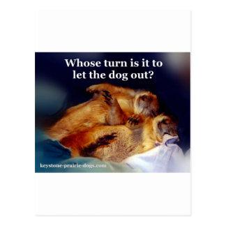 Los perros de las praderas trapezoidales dejaron postal