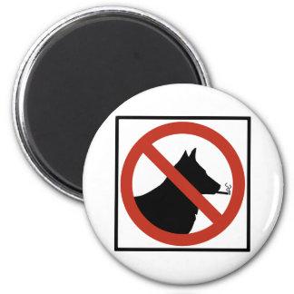 Los perros de no fumadores permitieron la muestra  imán redondo 5 cm