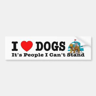 Los perros del corazón I (amor), es gente que no p Pegatina Para Auto