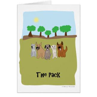 Los perros del paquete - pata de la atracción felicitación