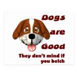 Los perros eructan postal