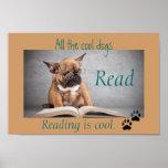 Los perros frescos leyeron el poster de la instruc