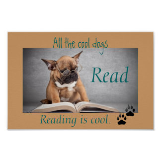 Los perros frescos leyeron el poster de la instruc póster