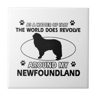 Los perros giran alrededor de mi newfounland azulejo cuadrado pequeño