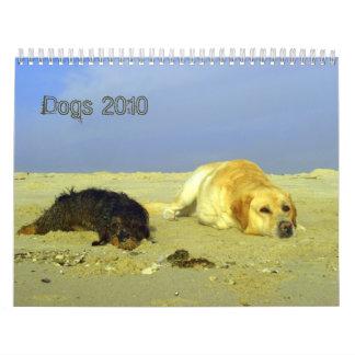 Los perros hacen calendarios para 2010