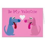 Los perros lindos del dibujo animado sean mi perso tarjeta