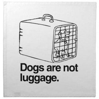 Los perros no son el equipaje - .png servilletas imprimidas
