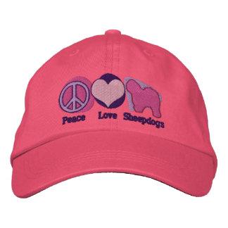 Los perros pastor del amor de la paz bordaron el g gorras bordadas