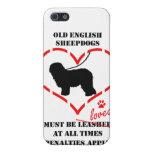 Los perros pastor ingleses viejos deben ser amados iPhone 5 carcasa