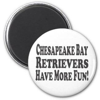 ¡Los perros perdigueros de bahía de Chesapeake se  Imán Redondo 5 Cm