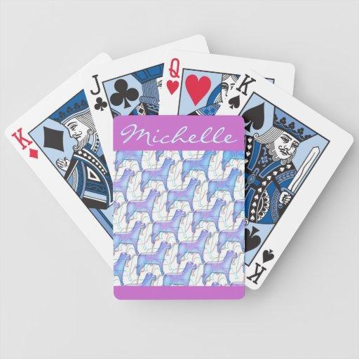 Los perros personalizaron naipes baraja de cartas