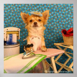 Los perros planchan impresiones