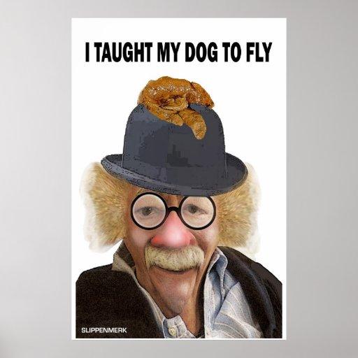Los perros pueden volar póster