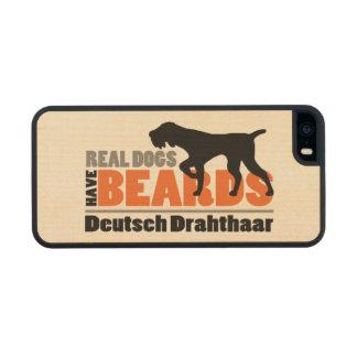 Los perros reales tienen barbas - Deutsch Funda De Madera Para iPhone 5