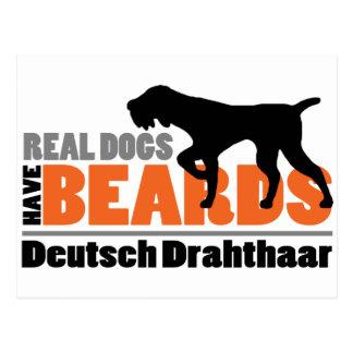 Los perros reales tienen barbas - Deutsch Tarjeta Postal