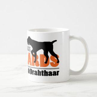 Los perros reales tienen barbas - Deutsch Taza Básica Blanca