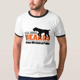 Los perros reales tienen barbas - indicador remera