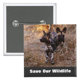 Los perros salvajes ahorran nuestra fauna pin