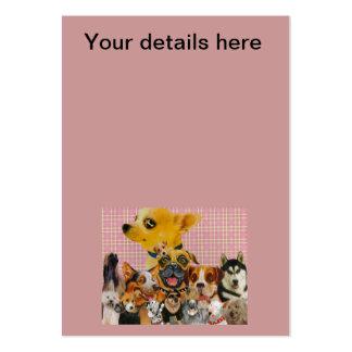 Los perros son diversión tarjetas de visita grandes