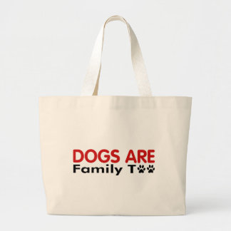 Los perros son familia también bolsa de mano