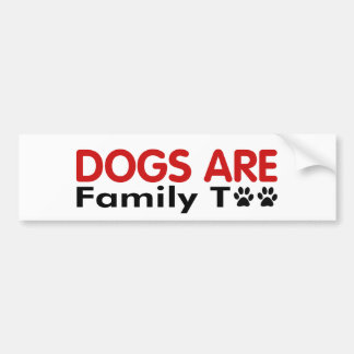 Los perros son familia también pegatina para auto