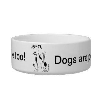 ¡Los perros son gente también! … cuenco del perro Tazón Para Comida Gato