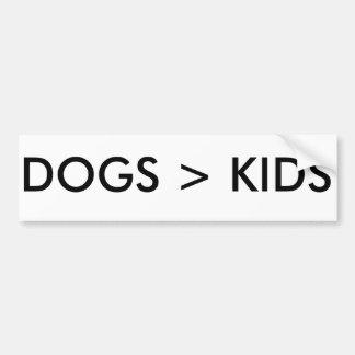 Los perros son mejores que la pegatina para el pegatina para auto