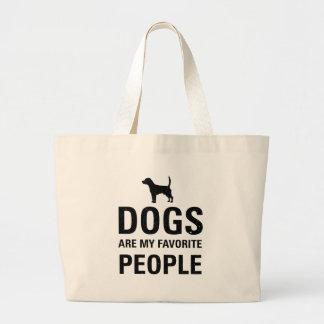 Los perros son mi gente preferida bolsa tela grande