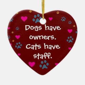 Los perros tienen Dueño-Gatos tener el personal Ornamentos Para Reyes Magos