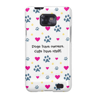 Los perros tienen Dueño-Gatos tener el personal Galaxy S2 Carcasa