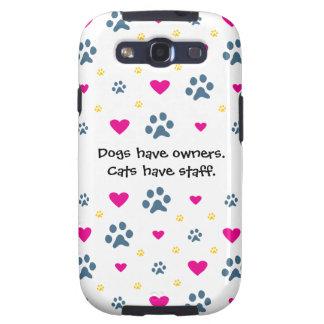 Los perros tienen Dueño-Gatos tener el personal Galaxy SIII Protectores