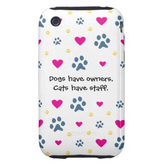 Los perros tienen Dueño-Gatos tener el personal iPhone 3 Tough Cobertura