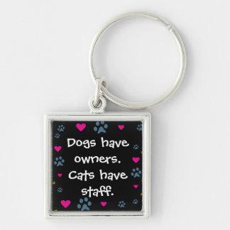 Los perros tienen Dueño-Gatos tener el personal Llaveros