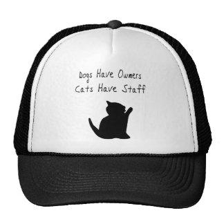 Los perros tienen dueños, gatos tienen el personal gorro de camionero